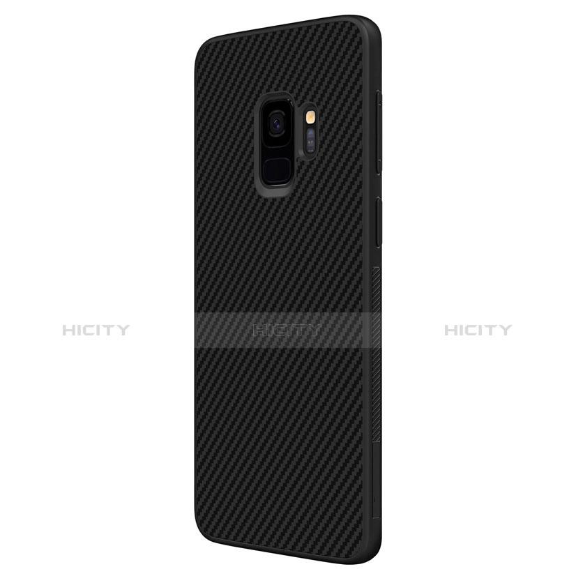 Silikon Hülle Handyhülle Gummi Schutzhülle Köper für Samsung Galaxy S9 Schwarz groß