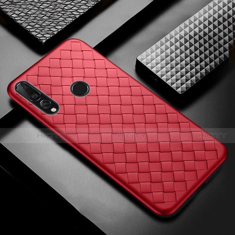 Silikon Hülle Handyhülle Gummi Schutzhülle Leder Tasche A01 für Huawei Honor 20 Lite Rot Plus