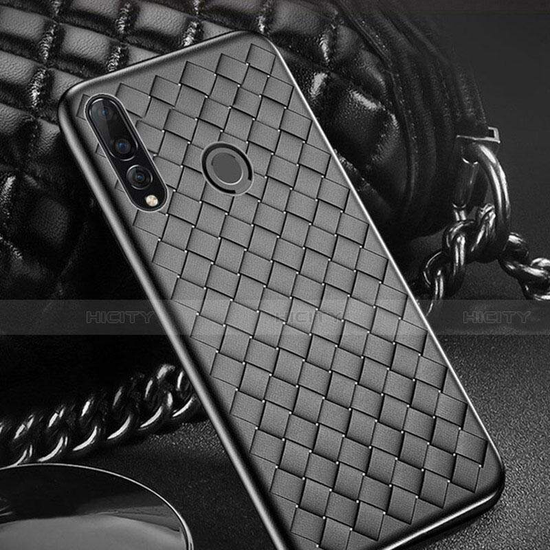 Silikon Hülle Handyhülle Gummi Schutzhülle Leder Tasche A01 für Huawei Honor 20 Lite Schwarz Plus
