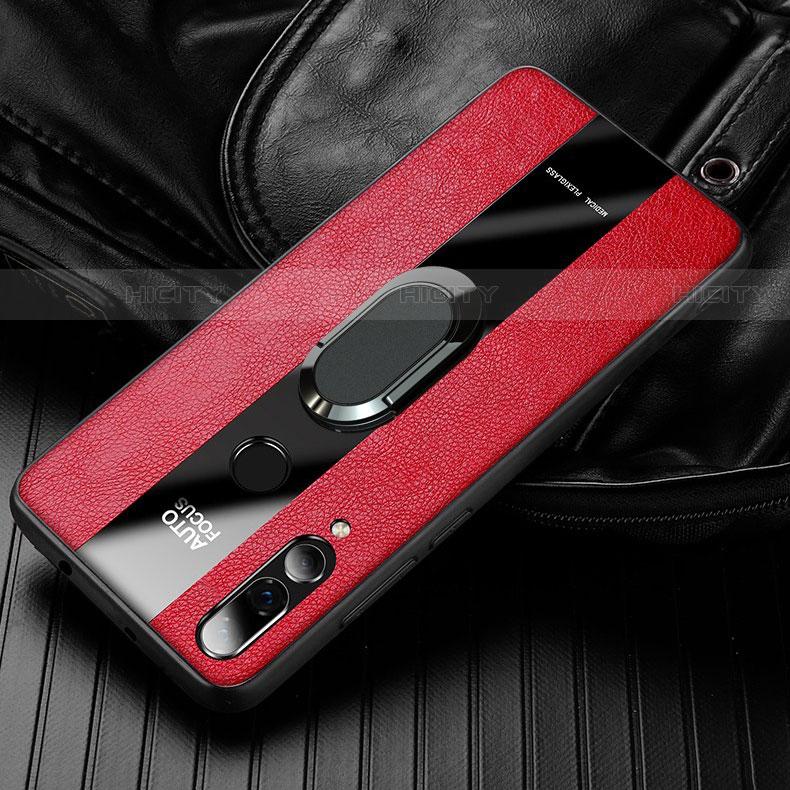 Silikon Hülle Handyhülle Gummi Schutzhülle Leder Tasche für Huawei Honor 20 Lite Rot