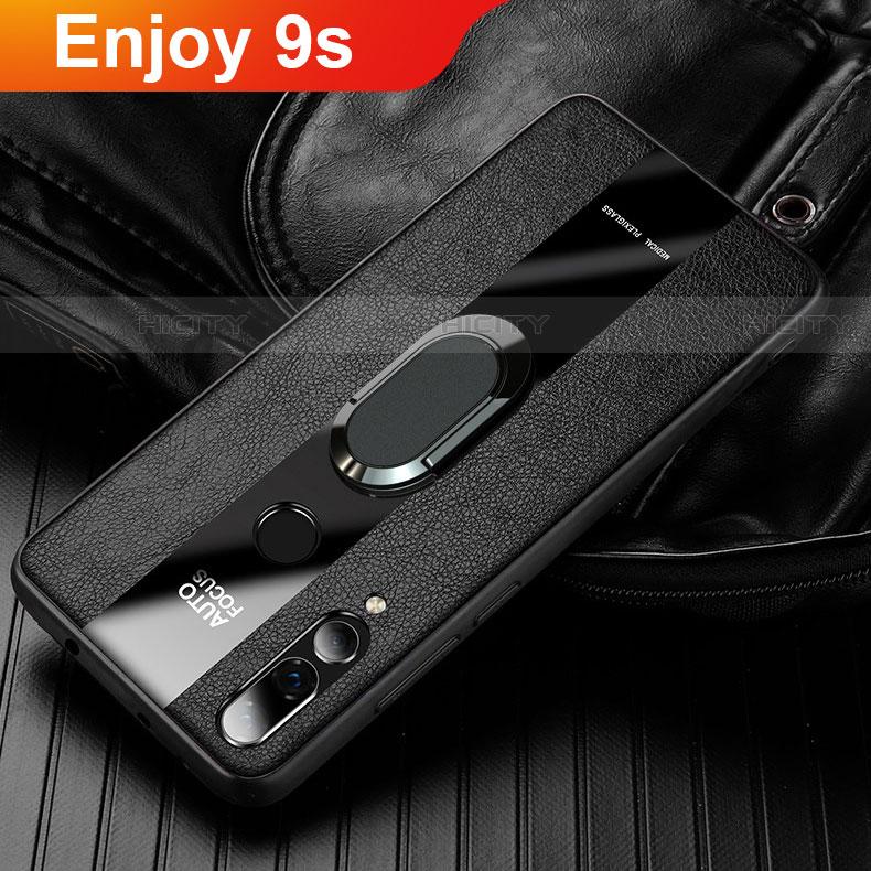 Silikon Hülle Handyhülle Gummi Schutzhülle Leder Tasche für Huawei Honor 20 Lite Schwarz Plus