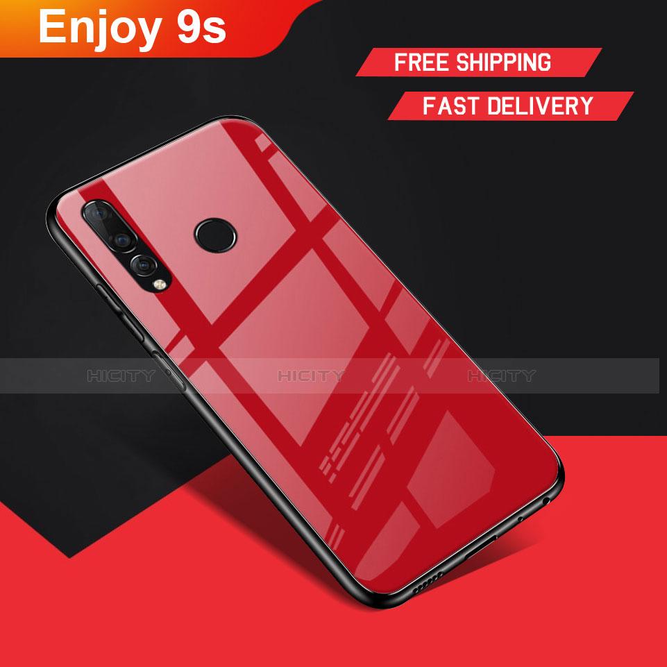 Silikon Hülle Handyhülle Gummi Schutzhülle Spiegel für Huawei Honor 20 Lite Rot Plus