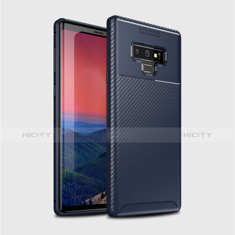 Silikon Hülle Handyhülle Gummi Schutzhülle Tasche Köper T01 für Samsung Galaxy Note 9 Blau Plus