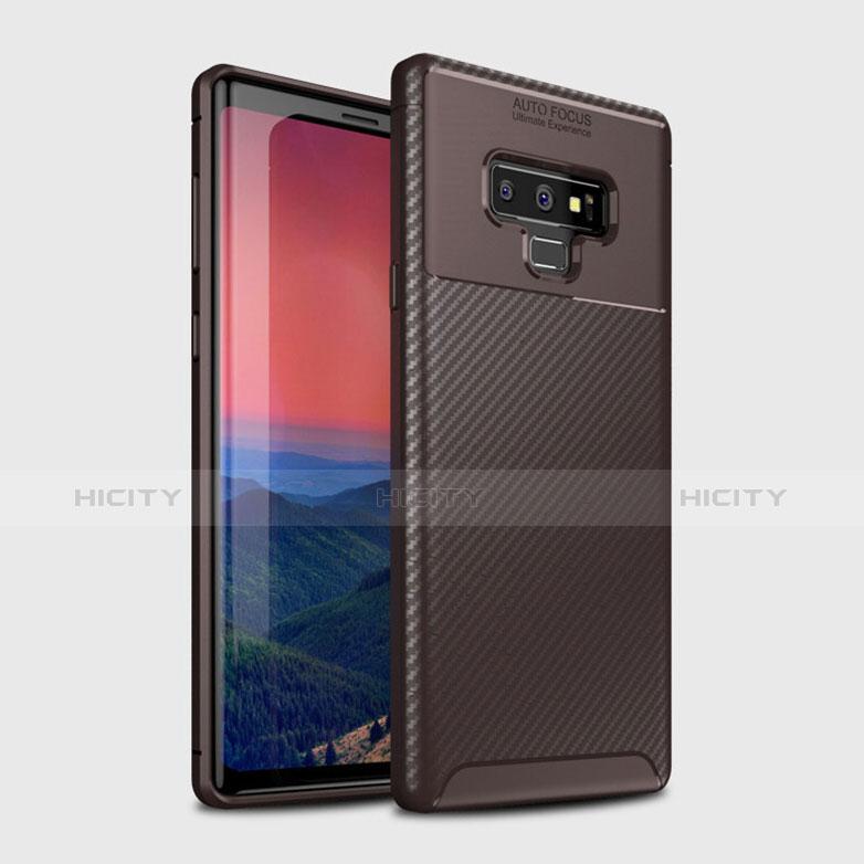 Silikon Hülle Handyhülle Gummi Schutzhülle Tasche Köper T01 für Samsung Galaxy Note 9 Braun Plus