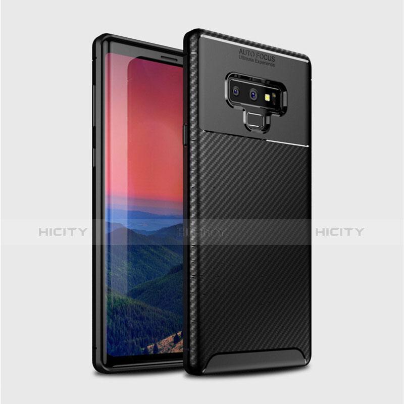 Silikon Hülle Handyhülle Gummi Schutzhülle Tasche Köper T01 für Samsung Galaxy Note 9 Schwarz Plus