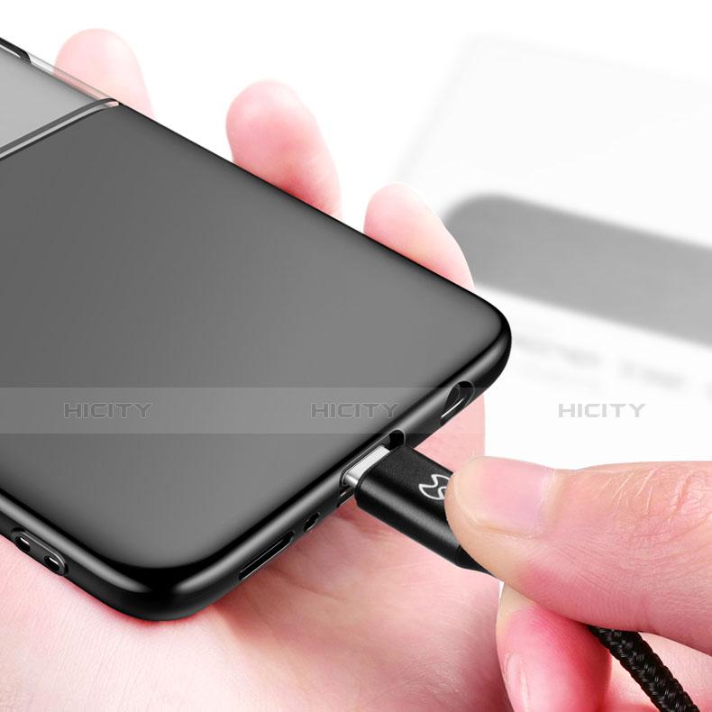 Silikon Hülle Handyhülle Rahmen Schutzhülle Durchsichtig Transparent Spiegel 360 Grad für Samsung Galaxy S9 Schwarz