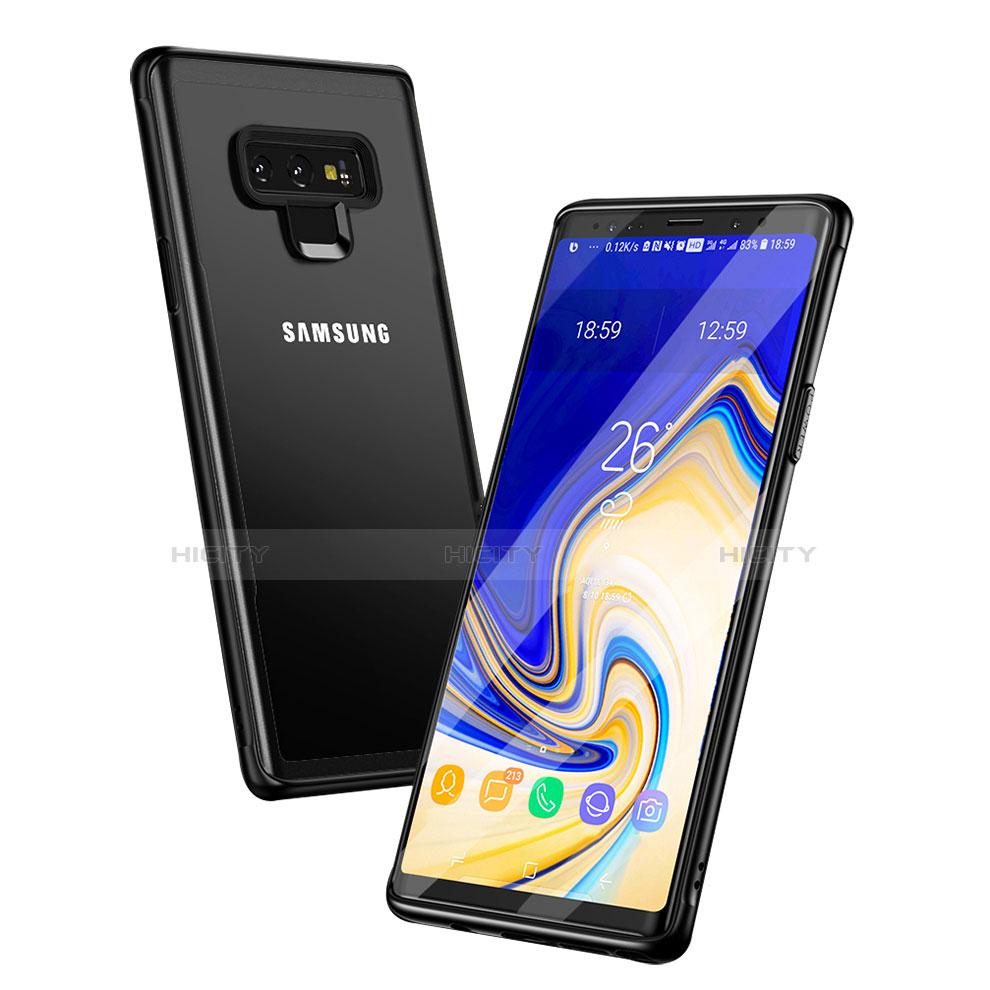 Silikon Hülle Handyhülle Rahmen Schutzhülle Durchsichtig Transparent Spiegel für Samsung Galaxy Note 9 Schwarz Plus