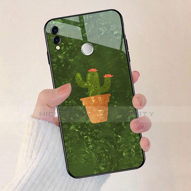 Silikon Hülle Handyhülle Rahmen Schutzhülle Spiegel Blumen für Huawei Honor 8X Grün Plus