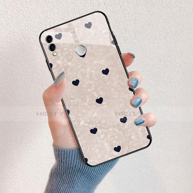 Silikon Hülle Handyhülle Rahmen Schutzhülle Spiegel Liebe Herz für Huawei Honor 8X Schwarz Plus