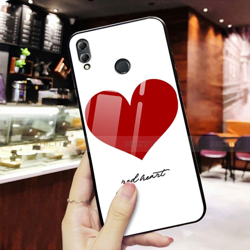Silikon Hülle Handyhülle Rahmen Schutzhülle Spiegel Liebe Herz S02 für Huawei Honor 8X Rot Plus