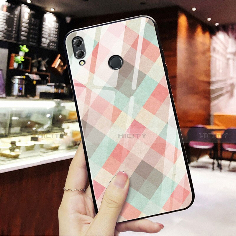 Silikon Hülle Handyhülle Rahmen Schutzhülle Spiegel Modisch Muster für Huawei Honor 8X Plusfarbig Plus