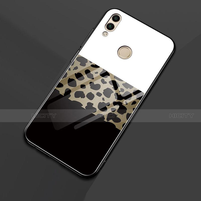 Silikon Hülle Handyhülle Rahmen Schutzhülle Spiegel Modisch Muster für Huawei Honor 8X Schwarz groß