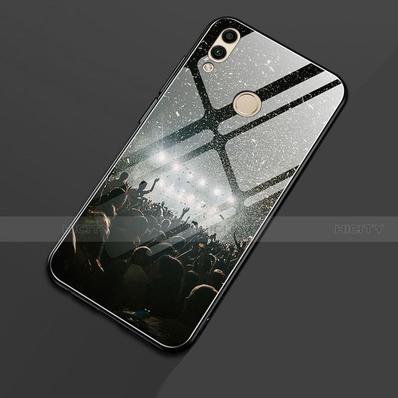 Silikon Hülle Handyhülle Rahmen Schutzhülle Spiegel Modisch Muster S01 für Huawei Honor 8X Schwarz Plus