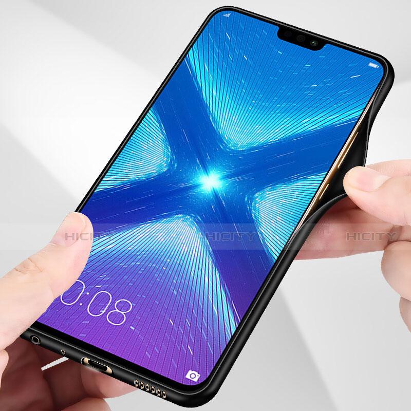 Silikon Hülle Handyhülle Rahmen Schutzhülle Spiegel Modisch Muster S01 für Huawei Honor 8X Schwarz groß