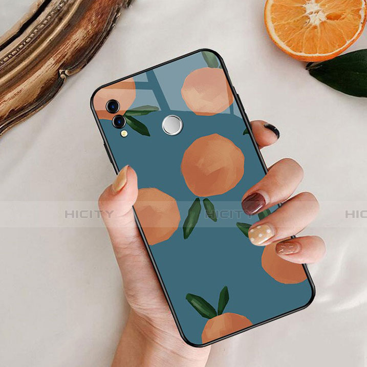 Silikon Hülle Handyhülle Rahmen Schutzhülle Spiegel Obst für Huawei Honor 8X Blau Plus