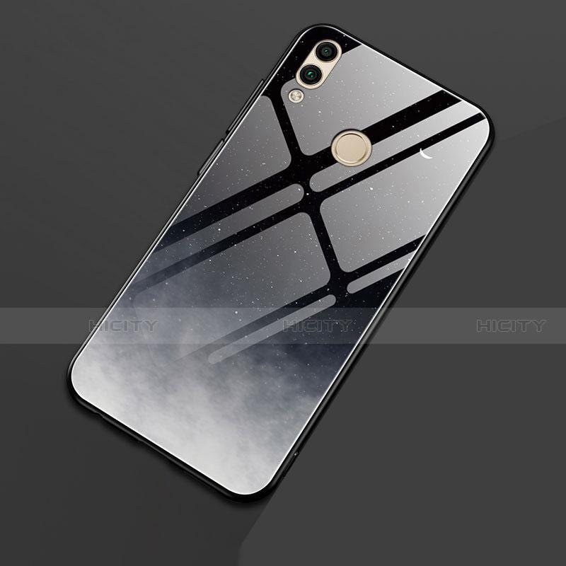Silikon Hülle Handyhülle Rahmen Schutzhülle Spiegel Sternenhimmel für Huawei Honor 8X Schwarz Plus