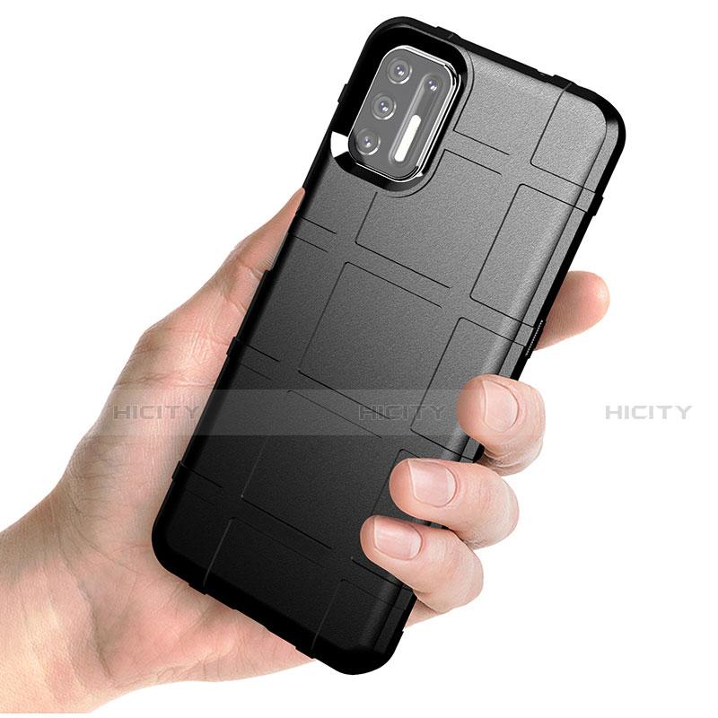 Silikon Hülle Handyhülle Ultra Dünn Flexible Schutzhülle 360 Grad Ganzkörper Tasche für Motorola Moto G9 Plus groß