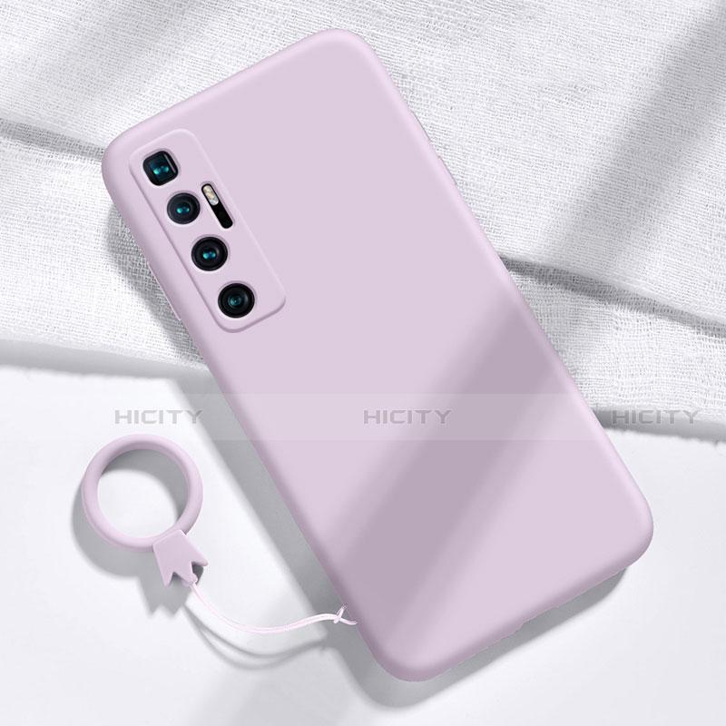 Silikon Hülle Handyhülle Ultra Dünn Flexible Schutzhülle 360 Grad Ganzkörper Tasche für Xiaomi Mi 10 Ultra Helles Lila Plus