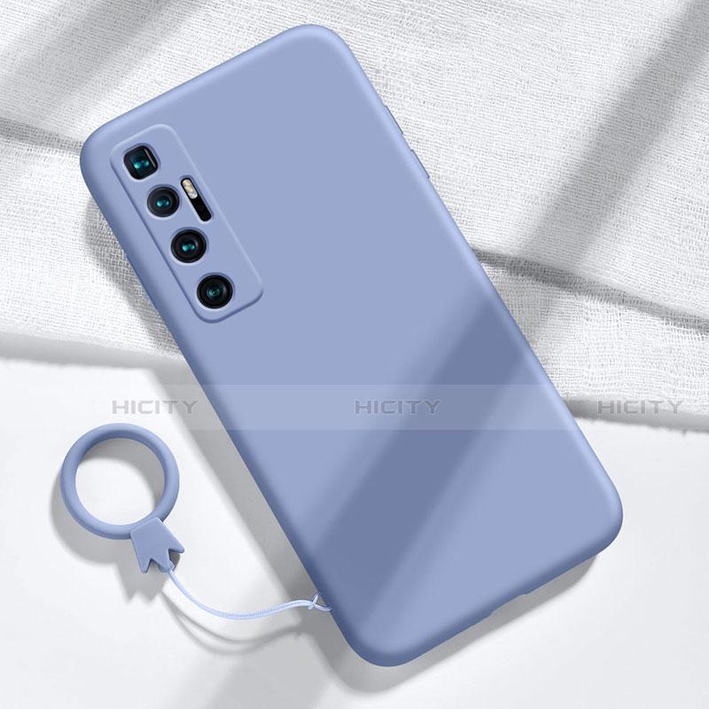 Silikon Hülle Handyhülle Ultra Dünn Flexible Schutzhülle 360 Grad Ganzkörper Tasche für Xiaomi Mi 10 Ultra Lavendel Grau Plus