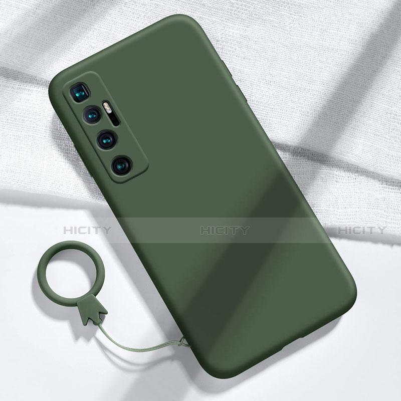 Silikon Hülle Handyhülle Ultra Dünn Flexible Schutzhülle 360 Grad Ganzkörper Tasche für Xiaomi Mi 10 Ultra Nachtgrün Plus