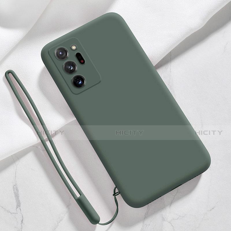 Silikon Hülle Handyhülle Ultra Dünn Flexible Schutzhülle 360 Grad Ganzkörper Tasche N03 für Samsung Galaxy Note 20 Ultra 5G Nachtgrün Plus