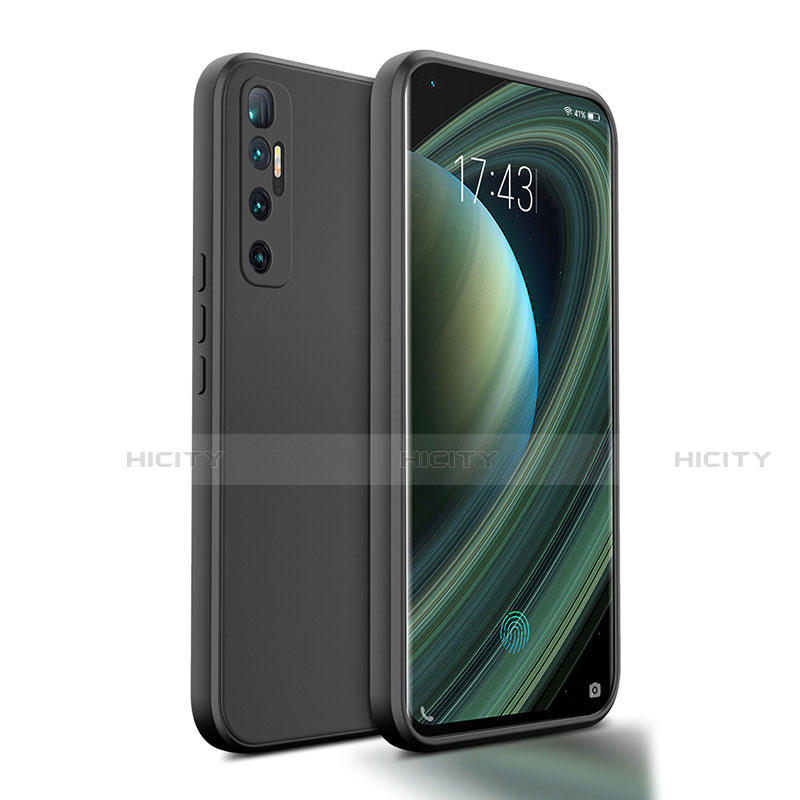 Silikon Hülle Handyhülle Ultra Dünn Flexible Schutzhülle 360 Grad Ganzkörper Tasche S01 für Xiaomi Mi 10 Ultra Schwarz Plus