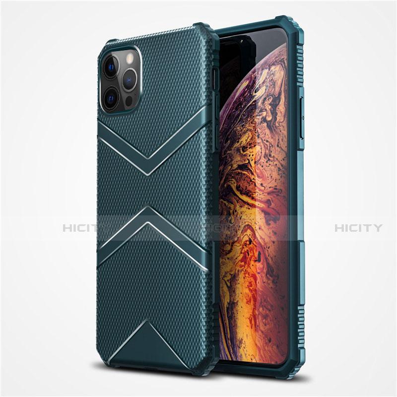 Silikon Hülle Handyhülle Ultra Dünn Flexible Schutzhülle 360 Grad Ganzkörper Tasche S02 für Apple iPhone 12 Pro Max groß