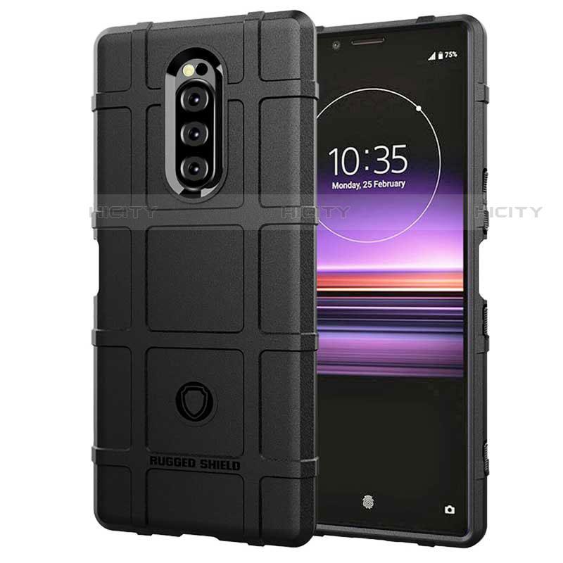 Silikon Hülle Handyhülle Ultra Dünn Schutzhülle 360 Grad Tasche für Sony Xperia XZ4 Schwarz Plus