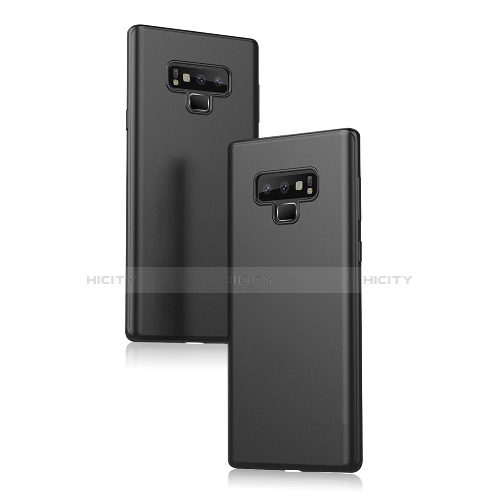 Silikon Hülle Handyhülle Ultra Dünn Schutzhülle für Samsung Galaxy Note 9 Schwarz groß