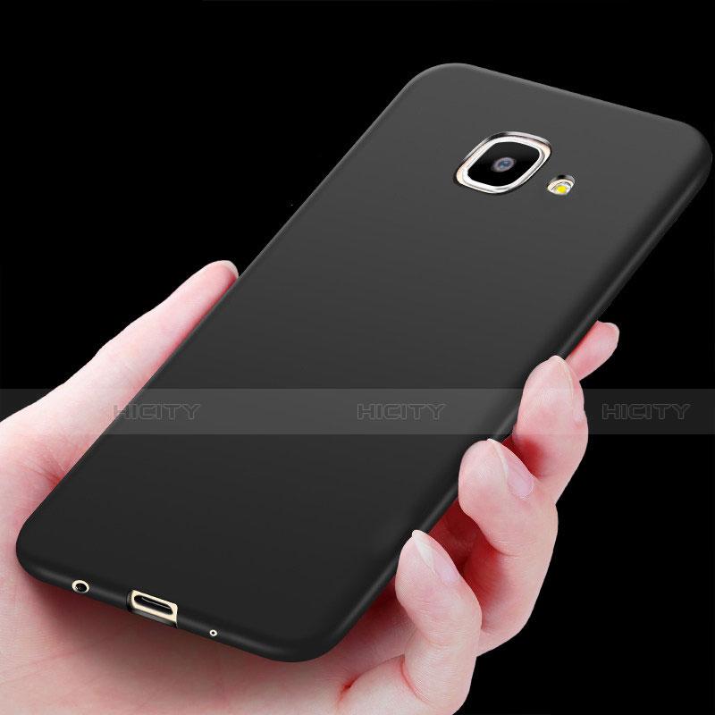 Silikon Hülle Handyhülle Ultra Dünn Schutzhülle S02 für Samsung Galaxy J7 Prime Schwarz groß