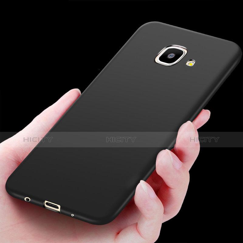 Silikon Hülle Handyhülle Ultra Dünn Schutzhülle S02 für Samsung Galaxy On7 (2016) G6100 Schwarz groß