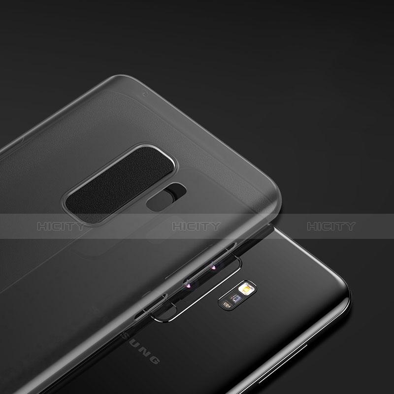 Silikon Hülle Handyhülle Ultra Dünn Schutzhülle S02 für Samsung Galaxy S9 Plus Schwarz groß