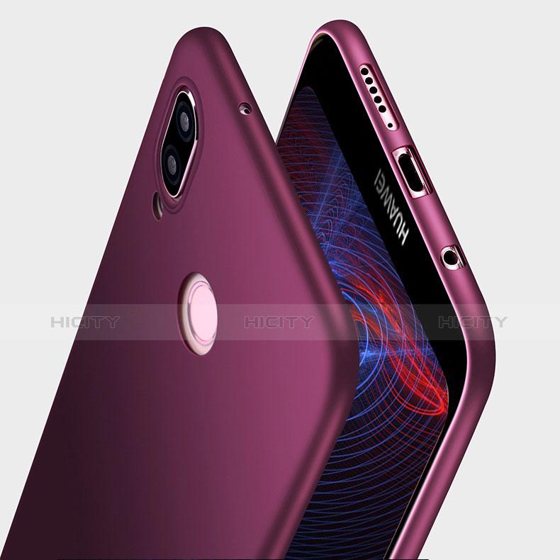 Silikon Hülle Handyhülle Ultra Dünn Schutzhülle S03 für Huawei P20 Lite Violett Plus