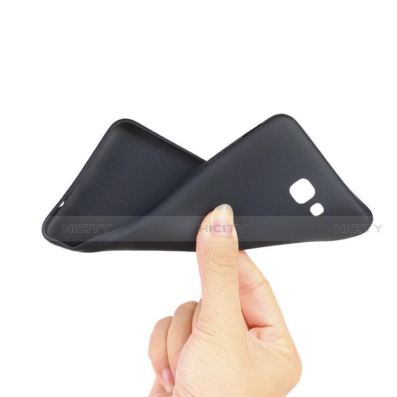 Silikon Hülle Handyhülle Ultra Dünn Schutzhülle S03 für Samsung Galaxy J7 Prime Schwarz groß