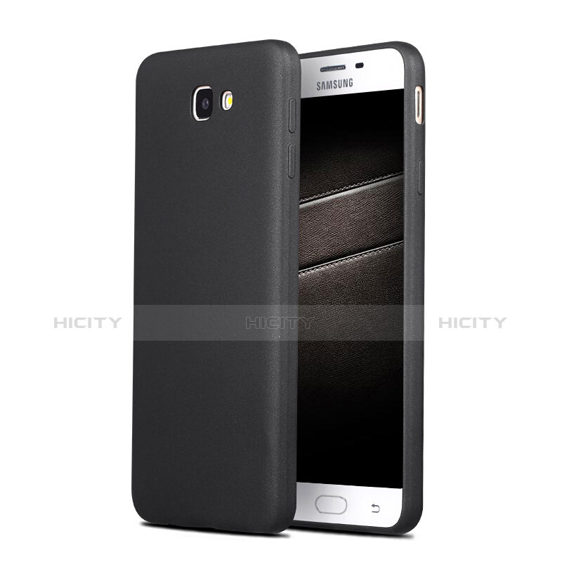 Silikon Hülle Handyhülle Ultra Dünn Schutzhülle S03 für Samsung Galaxy On7 (2016) G6100 Schwarz Plus