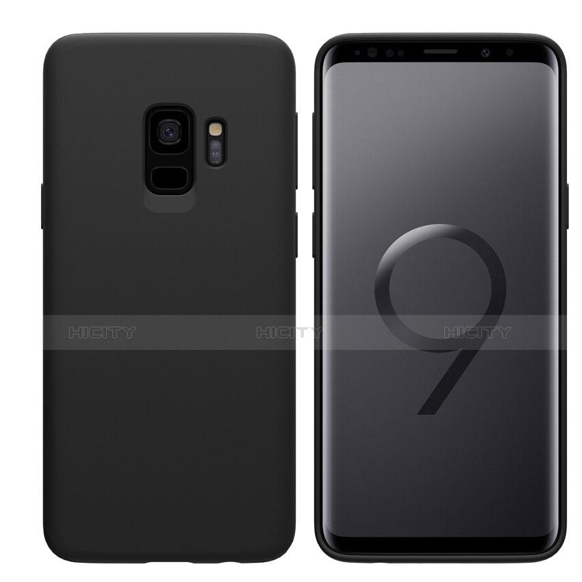 Silikon Hülle Handyhülle Ultra Dünn Schutzhülle S03 für Samsung Galaxy S9 Schwarz Plus