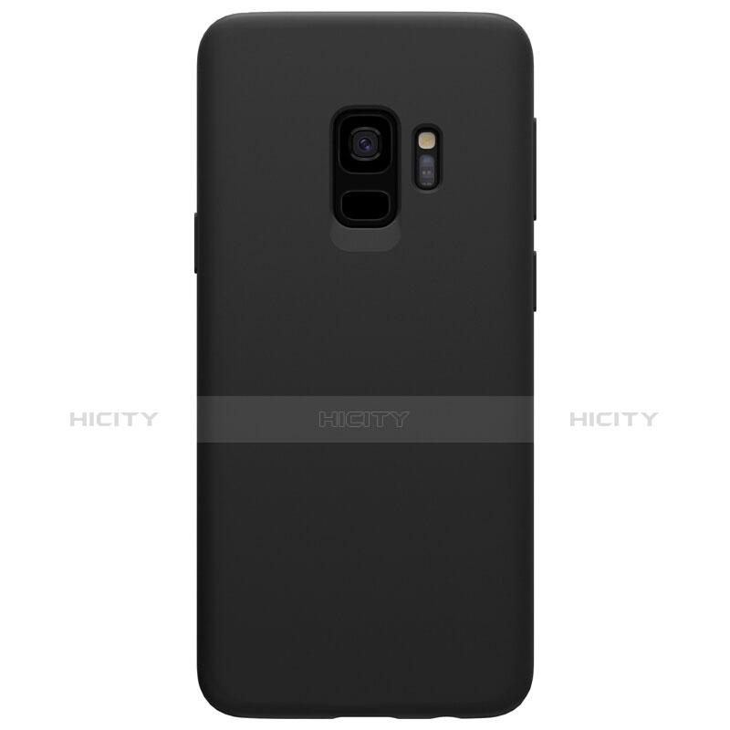 Silikon Hülle Handyhülle Ultra Dünn Schutzhülle S03 für Samsung Galaxy S9 Schwarz groß