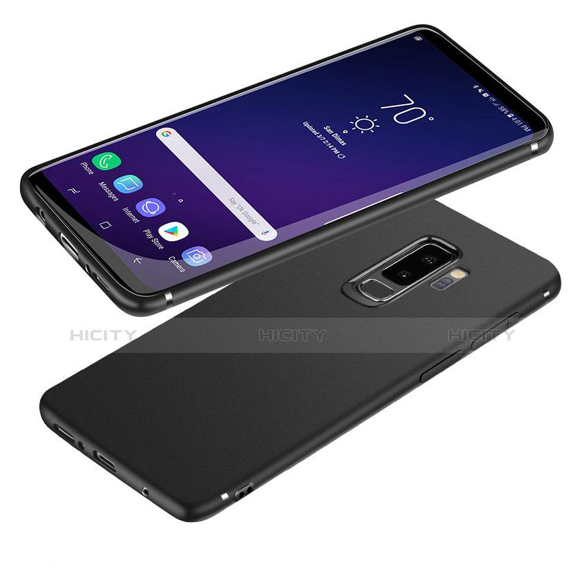 Silikon Hülle Handyhülle Ultra Dünn Schutzhülle S04 für Samsung Galaxy S9 Plus Schwarz Plus
