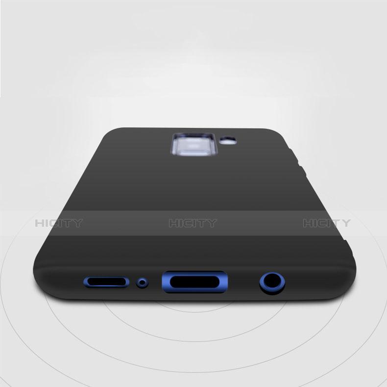Silikon Hülle Handyhülle Ultra Dünn Schutzhülle S04 für Samsung Galaxy S9 Plus Schwarz groß