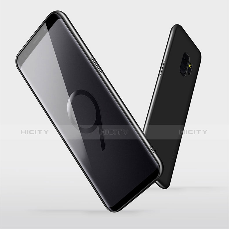 Silikon Hülle Handyhülle Ultra Dünn Schutzhülle S04 für Samsung Galaxy S9 Schwarz groß