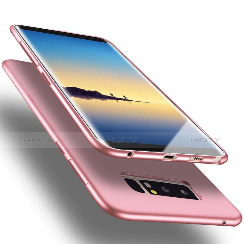 Silikon Hülle Handyhülle Ultra Dünn Schutzhülle S06 für Samsung Galaxy Note 8 Rosa groß