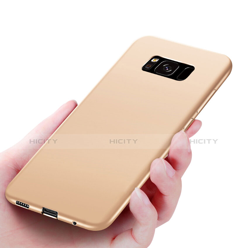 Silikon Hülle Handyhülle Ultra Dünn Schutzhülle S06 für Samsung Galaxy S8 Plus Gold Plus