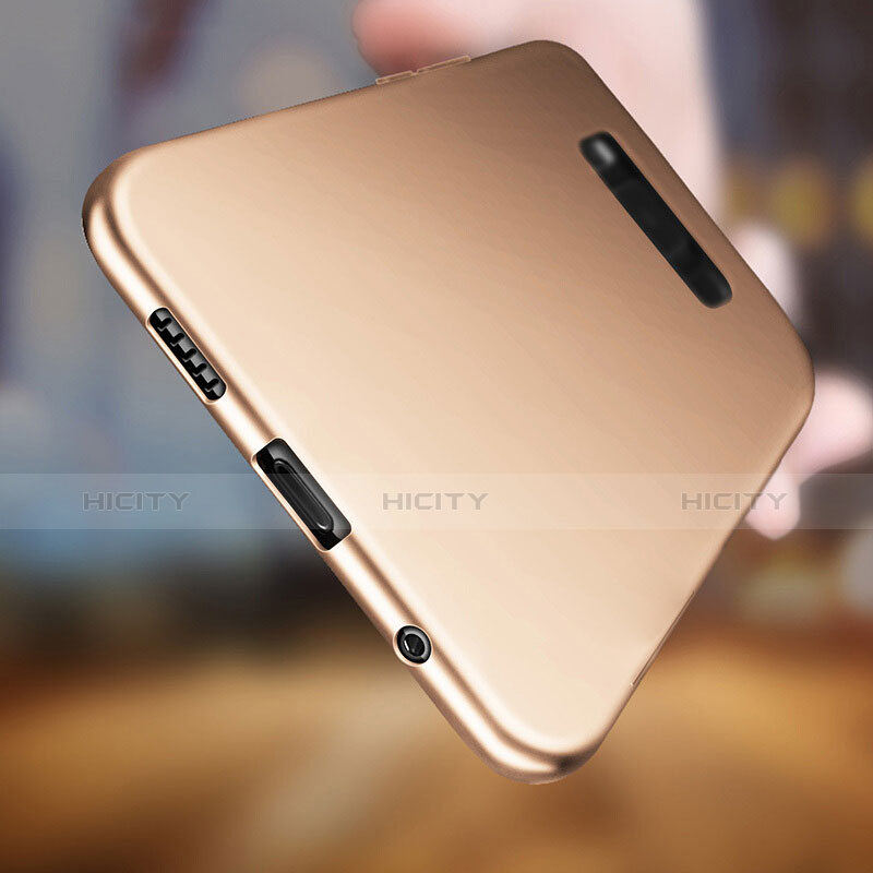 Silikon Hülle Handyhülle Ultra Dünn Schutzhülle S06 für Samsung Galaxy S8 Plus Gold groß