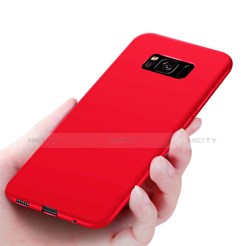 Silikon Hülle Handyhülle Ultra Dünn Schutzhülle S06 für Samsung Galaxy S8 Rot Plus