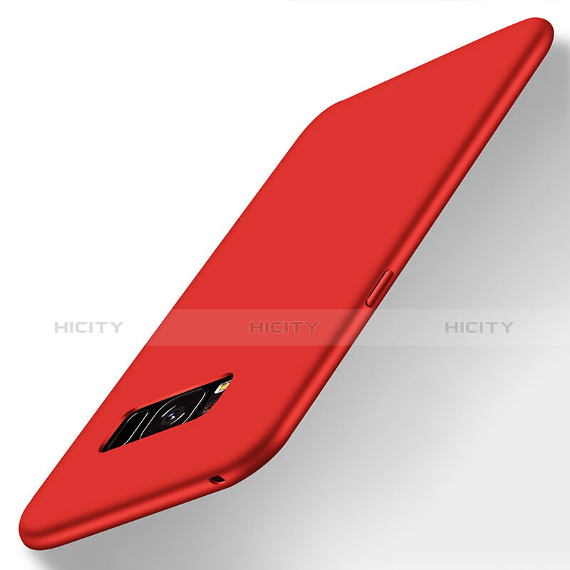 Silikon Hülle Handyhülle Ultra Dünn Schutzhülle S06 für Samsung Galaxy S8 Rot groß