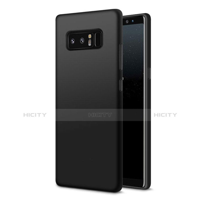Silikon Hülle Handyhülle Ultra Dünn Schutzhülle S07 für Samsung Galaxy Note 8 Duos N950F Schwarz Plus