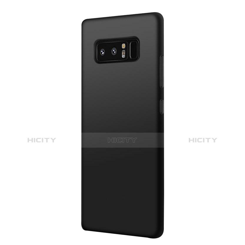 Silikon Hülle Handyhülle Ultra Dünn Schutzhülle S07 für Samsung Galaxy Note 8 Schwarz groß
