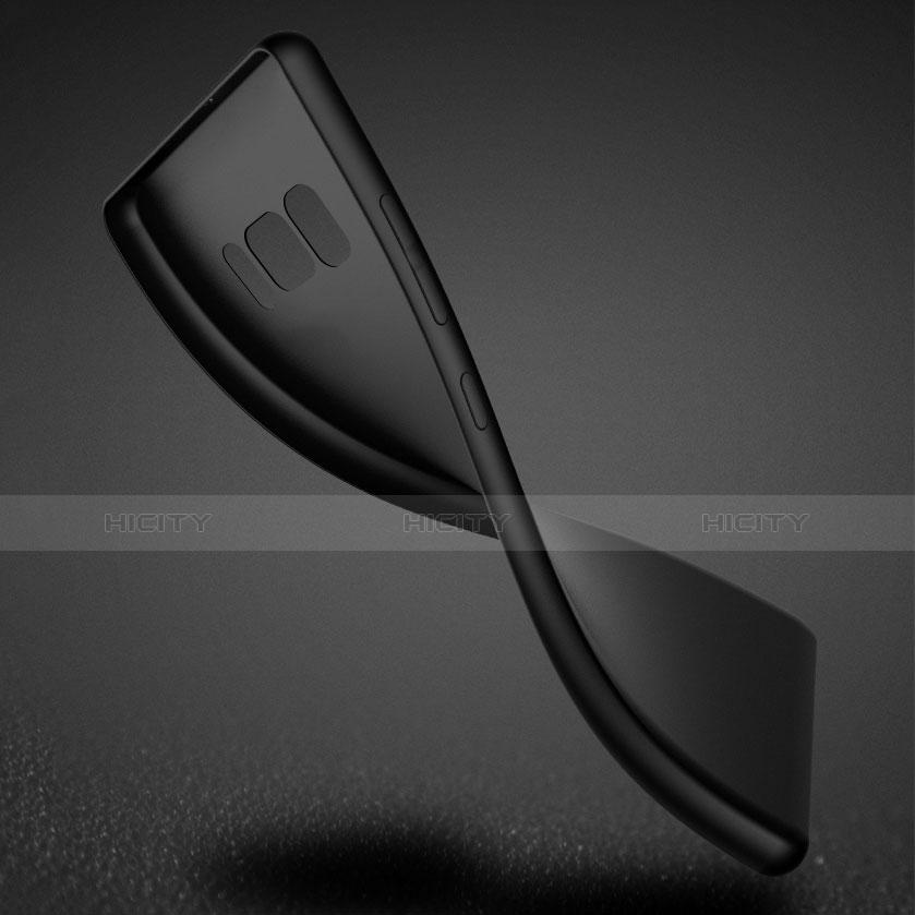 Silikon Hülle Handyhülle Ultra Dünn Schutzhülle S07 für Samsung Galaxy S8 Plus Schwarz groß