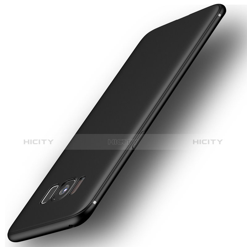 Silikon Hülle Handyhülle Ultra Dünn Schutzhülle S07 für Samsung Galaxy S8 Schwarz groß