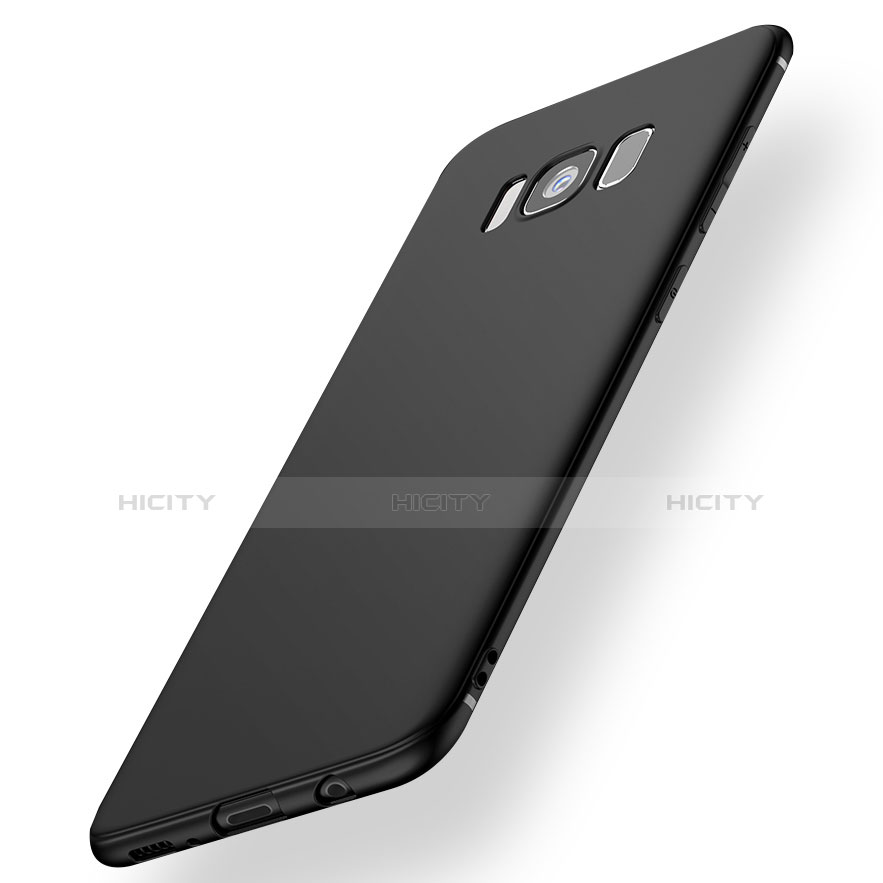 Silikon Hülle Handyhülle Ultra Dünn Schutzhülle S07 für Samsung Galaxy S8 Schwarz